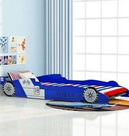 VidaXL Kinder raceauto bed blauw 90x200 cm