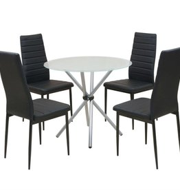 VidaXL Eettafel en stoelenset 5-delig