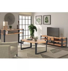 VidaXL Woonkamer meubelset massief acaciahout 3-delig