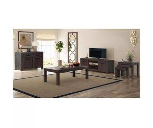 Woonkamer Meubel Set : Vidaxl woonkamer meubelset rook look massief acaciahout delig