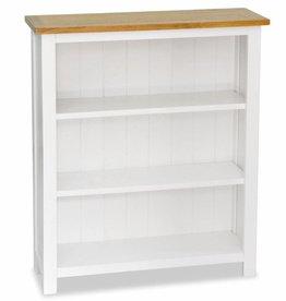 VidaXL Boekenkast met 3 planken 72x22,5x82 cm massief eikenhout