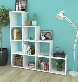 VidaXL Boekenkast/schap trapvormig 142 cm wit