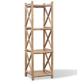 VidaXL Rek bamboe vier lagen
