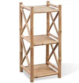 VidaXL Rek bamboe drie lagen