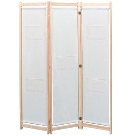VidaXL Scheidingswand met 3 panelen massief grenenhout 120x170 cm