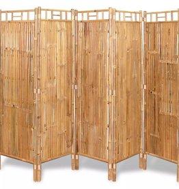 VidaXL Scheidingswand met 5 panelen 200x160 cm bamboe