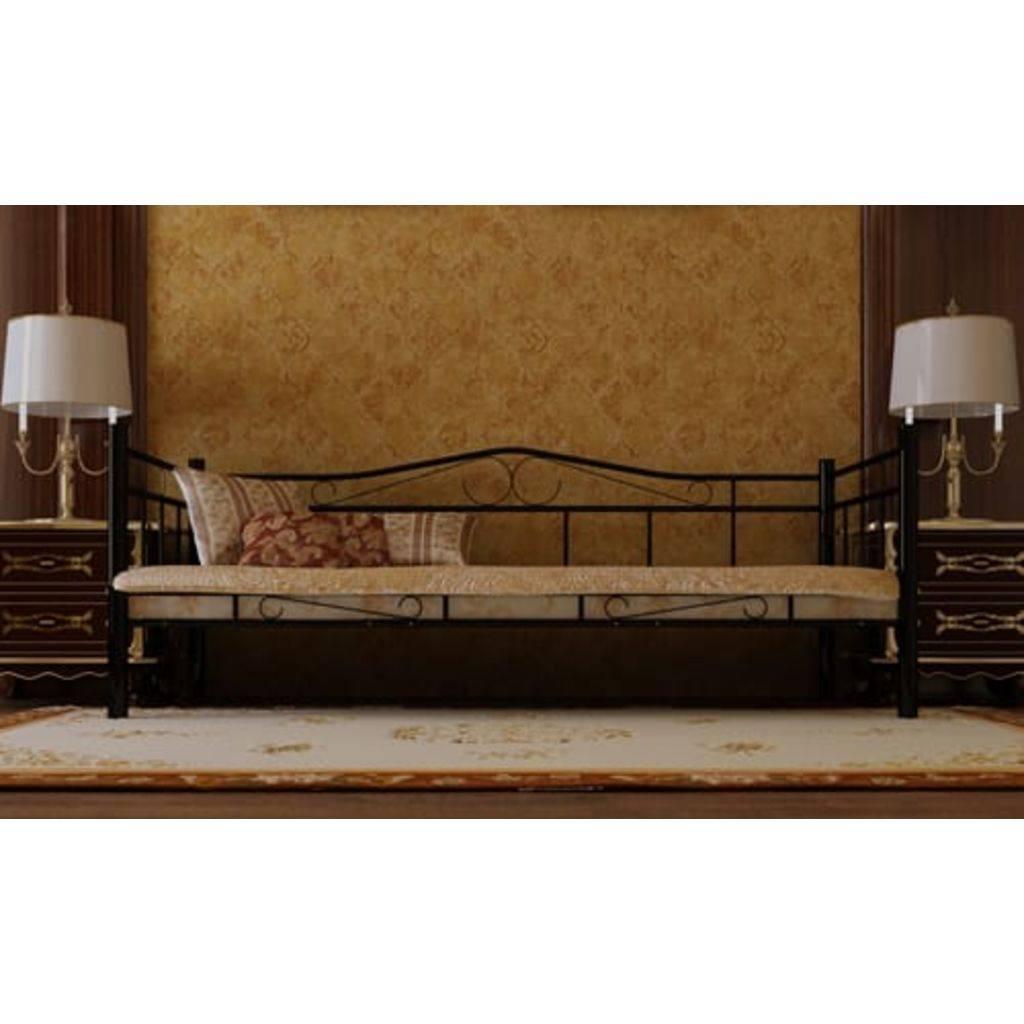 VidaXL 1-persoons bed van metaal 90 x 200 cm.
