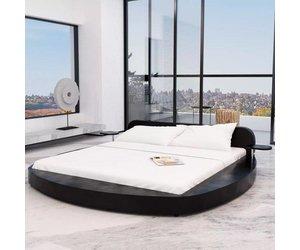 Bed Met Matras : Vidaxl bed met matras cm rond kunstleer zwart