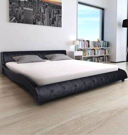 VidaXL Bed met traagschuimmatras kunstleer 140x200 cm zwart