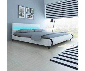 Vidaxl bed hoofdeinde led 180 cm matras www.overtrekconcurrent.nl