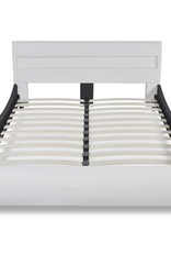 VidaXL Bed hoofdeinde led 140 cm + matras