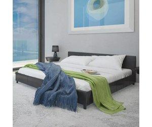 Bed Met Matras : Vidaxl bed met matras kunstleer zwart cm