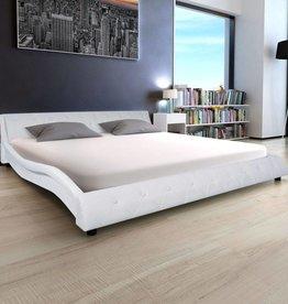 VidaXL Bedframe kunstleer 180x200 cm wit