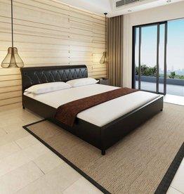 VidaXL Bedframe kunstleer 180x200 cm zwart