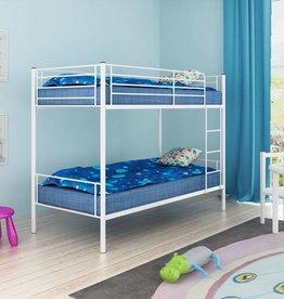 VidaXL Stapelbedframe voor kinderen 200 x 90 cm metaal wit