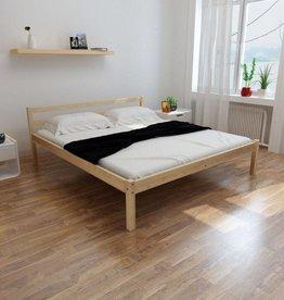 VidaXL Bedframe massief grenenhout 160x200 cm
