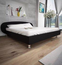 VidaXL Bedframe modern kunstleer zwart 140x200 cm