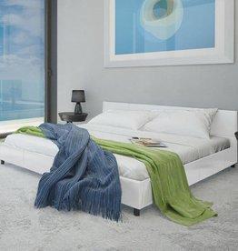 VidaXL Bedframe kunstleer wit 140x200 cm