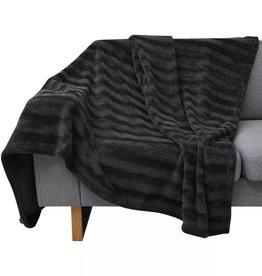 VidaXL Deken zwart 100x150 cm nepbont