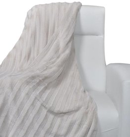 VidaXL Deken van nepbont 150 x 200 cm (beige)