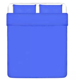 VidaXL dekbedovertrek driedelig katoen blauw 240 x 220/80 x 80 cm