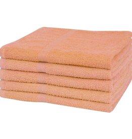 VidaXL Handdoeken 100% katoen 360 g/m² 50x100 cm perzik 5 st