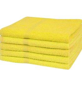 VidaXL Badhanddoeken 100% katoen 360 g/m² 100x150 cm geel 5 st