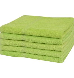 VidaXL Sauna handdoeken 100% katoen 360 g/m² 80x200 cm groen 5 st