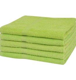 VidaXL Badhanddoeken 100% katoen 360 g/m² 100x150 cm groen 5 st