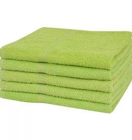 VidaXL Handdoeken 100% katoen 360 g/m² 50x100 cm groen 5 st