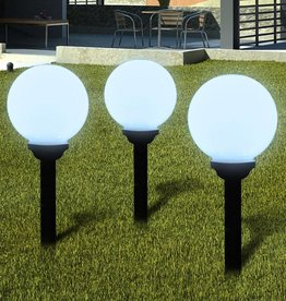 VidaXL Buitenverlichting op zonne-energie (balvormig) LED 20 cm (3 st)