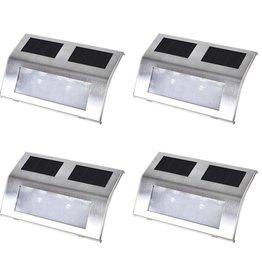 VidaXL Solar trappen lamp (4 stuks)