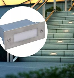 VidaXL LED verzonken traplamp 12 st 44x111x56 mm