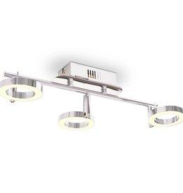VidaXL LED-wand/plafondlamp met 3 lampen warm wit