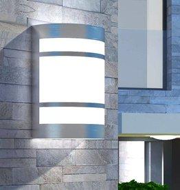 VidaXL Wandlamp voor buiten licht roestvrij staal
