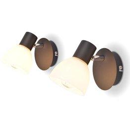 VidaXL Wandlampen E14 zwart 2 st