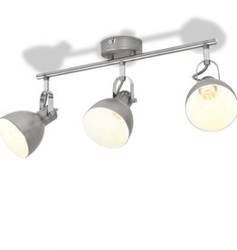 VidaXL Plafondlamp voor 3 peertjes E14 grijs
