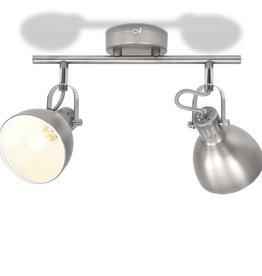 VidaXL Plafondlamp voor 2 peertjes E14 grijs
