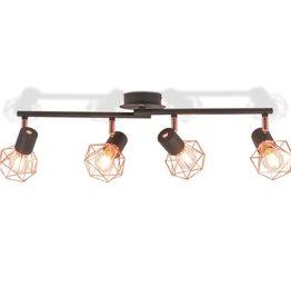 VidaXL Plafondlamp met 4 filament LED-lampen 16 W