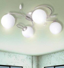 VidaXL Lamp met kristallen bladeren van acryl voor 4x G9