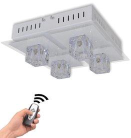 VidaXL Plafonnière RGB LED kleurveranderend 4 lampen