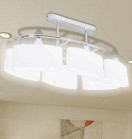 VidaXL Plafondlamp met ellips glazen kapjes (6 x E14)