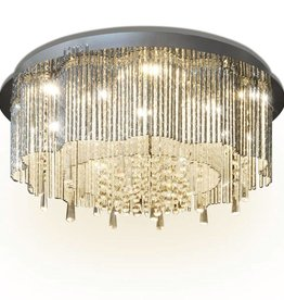 VidaXL LED-plafondlamp met kristallen kroonluchter 55 cm diameter