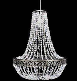 VidaXL Kroonluchter met kristallen 36,5 x 46 cm
