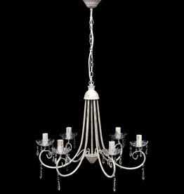 VidaXL Kroonluchter met wit elegant design (6 lampen)