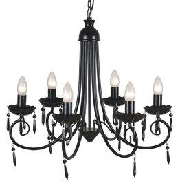 VidaXL Kroonluchter met zwart elegant design (6 lampen)