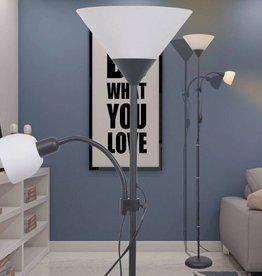 VidaXL vloerlamp zwart