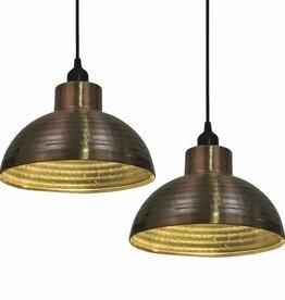VidaXL plafondlampen 2 st halve bolvorm koperkleurig