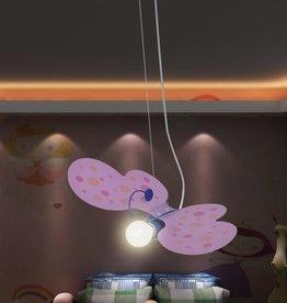 VidaXL Hanglamp Roze Vlinder Model voor kinderslaapkamer