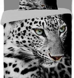 Animal Pictures Animal Pictures Dekbedovertrek Luipaard Zwart Wit 140x200cm + kussensloop 70x90cm